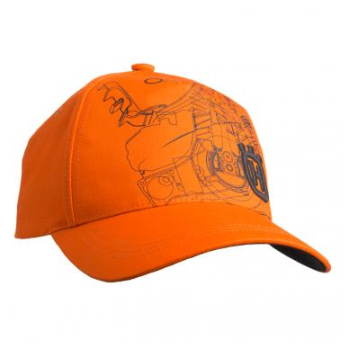 """Oranžinės spalvos """"Xplorer"""" kepurė su pjūklo atvaizdu"""