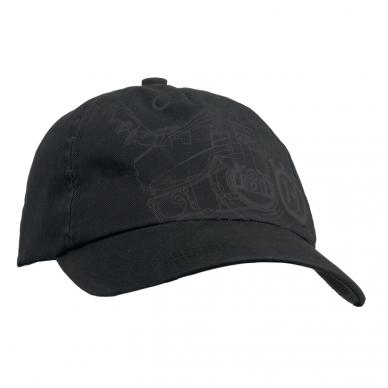 """Juodos spalvos """"Xplorer"""" kepurė su plūklo atvaizdu"""